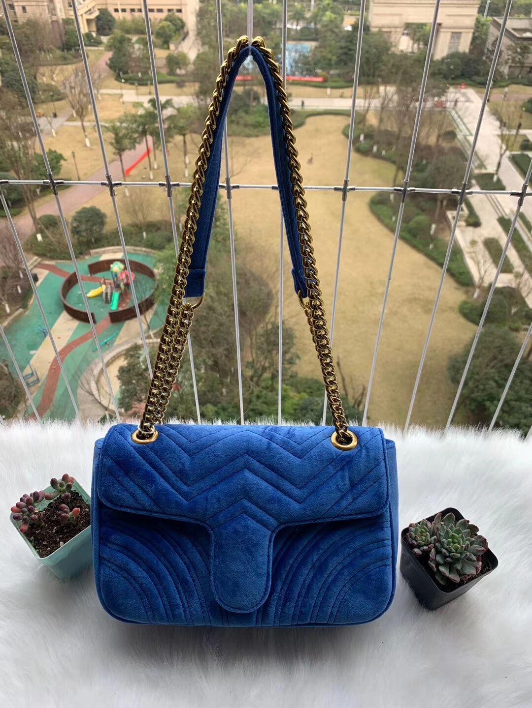 bolsos de cadena de oro clásico 2020 vendedor caliente del partido bolsas de diseñador Marmont bandolera terciopelo 3301 mujeres famosas