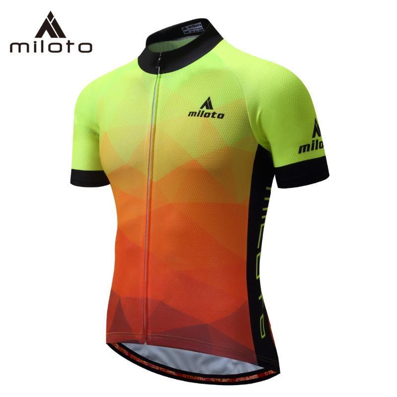 MILOTO de aluminio de ciclo Jersey camiseta de verano transpirable Ciclismo Ropa Pro montar camisas equipo MTB carretera bicicleta Jersey