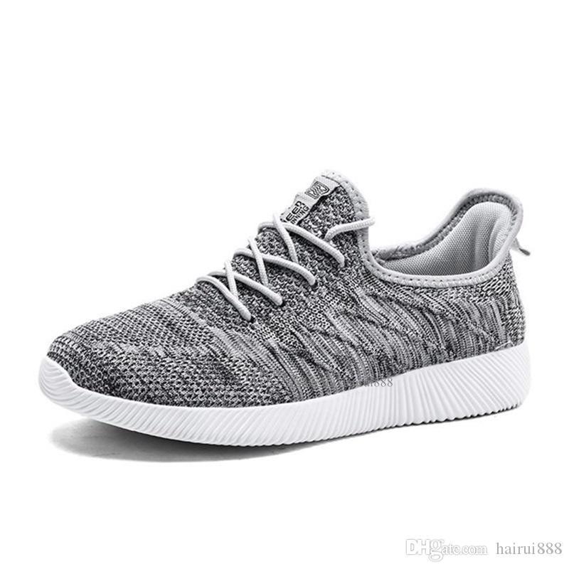 Sıcak Satış Moda Erkekler Ayakkabı Mesh Nefes Sneakers Yürüyüş Erkek Ayakkabı Yeni Rahat Hafif Koşu Ayakkabı Ea-200303008