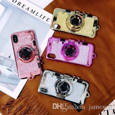 الفاخرة الإبداعية تصفيح بريق القوس الحبل كاميرا crashproof لينة الهاتف الخليوي حالة واقية يغطي لتفاح iphone x 6 6 ثانية 7 8 زائد