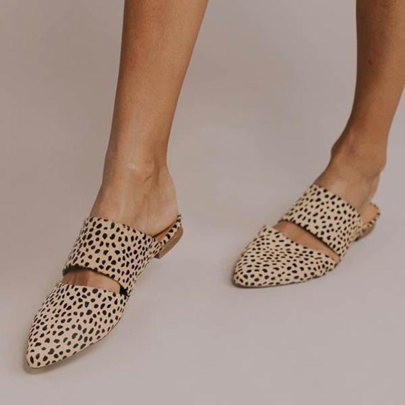 신발 여성 뾰족한 발가락 게으른 슬리퍼 캐주얼 플랫 레트로 노새 컴포트 샌들은 샌들 디자이너 zapatos 드 mujer을 여자