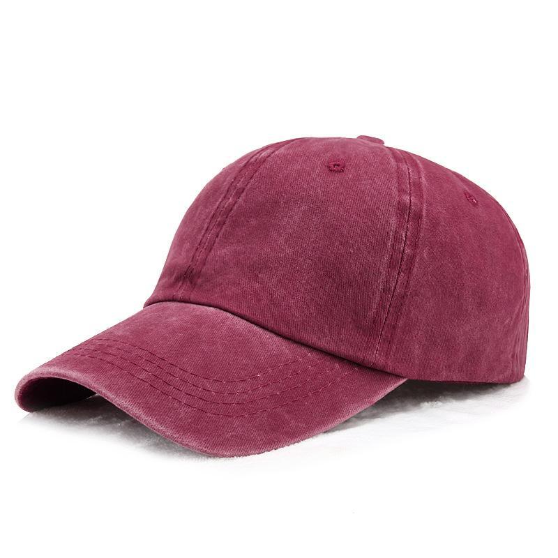 Старинные мужские Папины шляпы промытые хлопчатобумажные шапки шесть панелей регулируемая обычная бейсболка для женщин, винно-красный синий серый оранжевый хаки