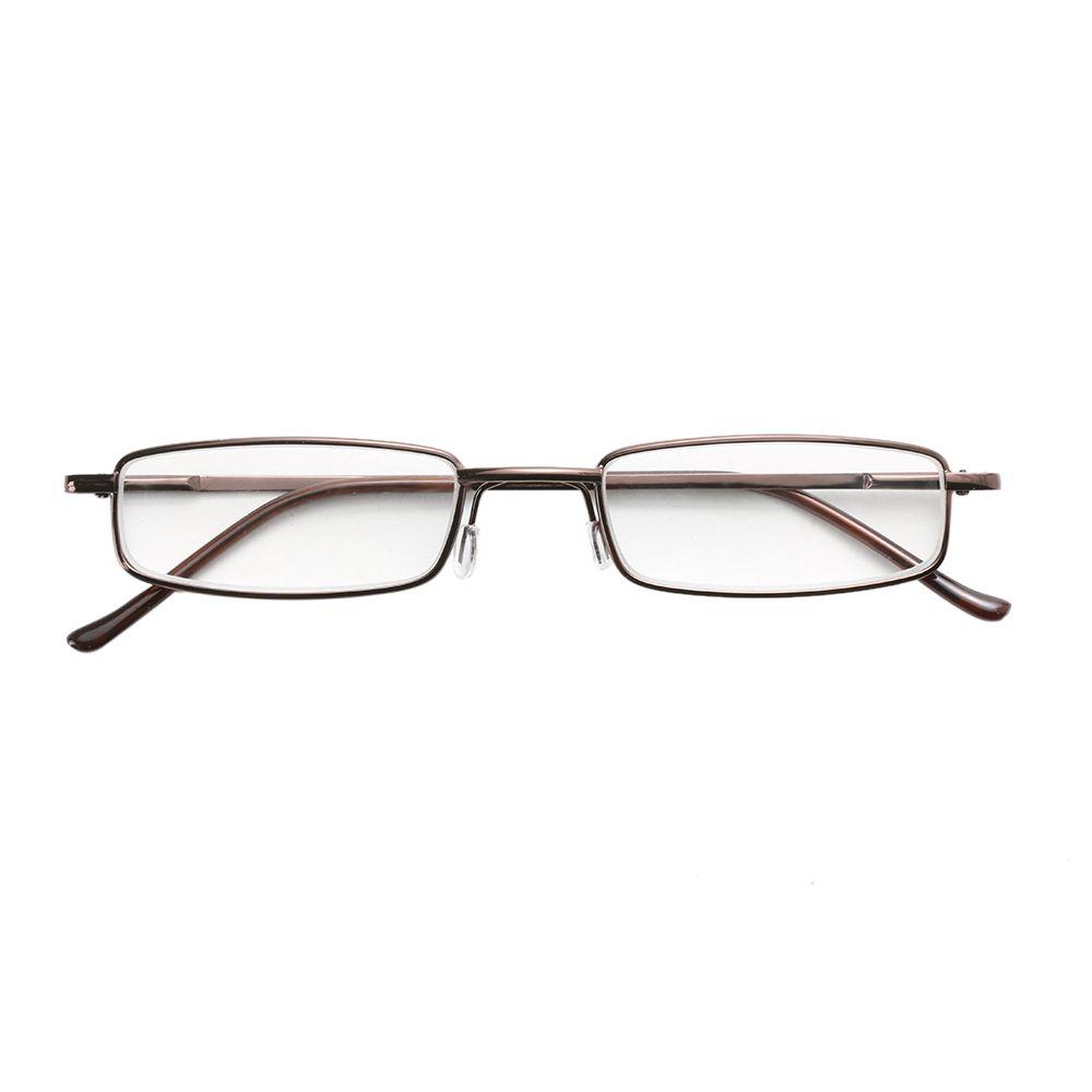 HOOH 1PC unisex Eyewear Set in acciaio inox Glasses telaio in resina Occhiali 1,00-4,00 + tubo della cassa di vetro Eyewear occhiali da lettura