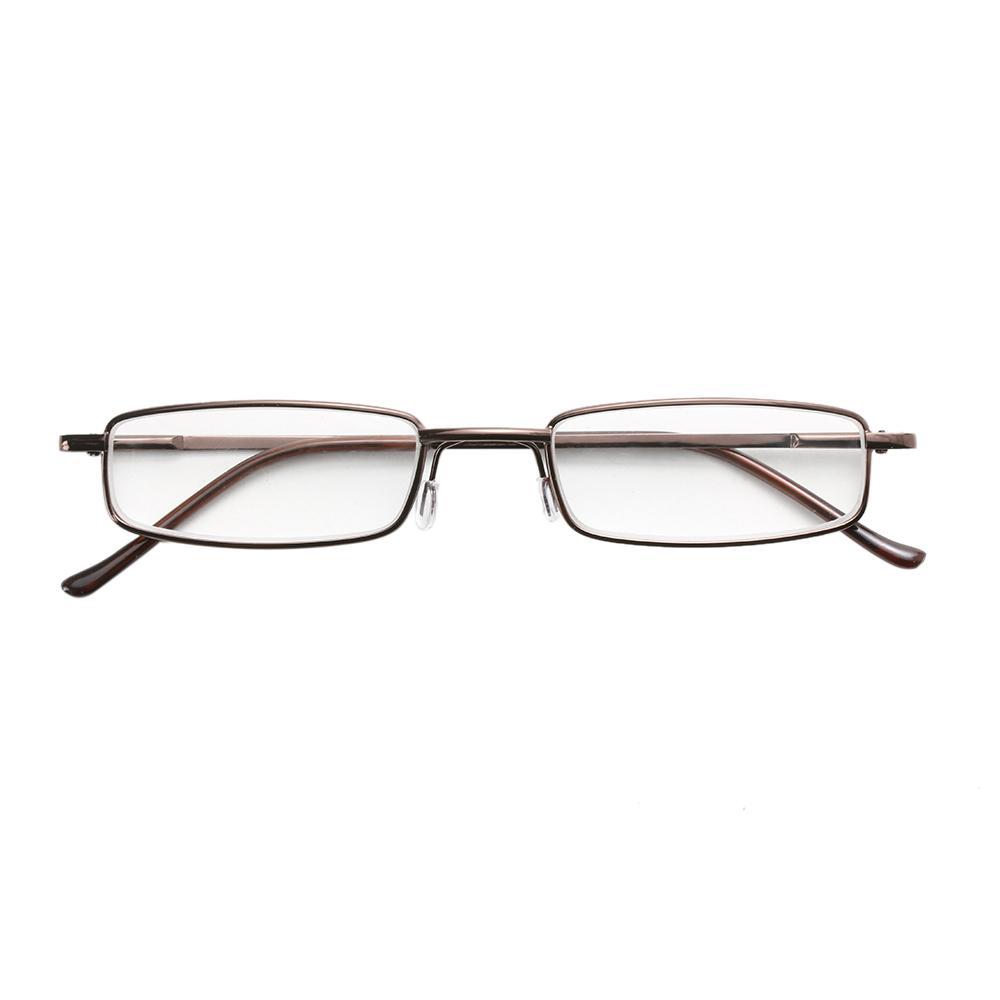 HOOH 1шт унисекс очки набор очков из нержавеющей стали рамка смолы очки 1.00-4.00 + трубка очки чехол очки для чтения очки