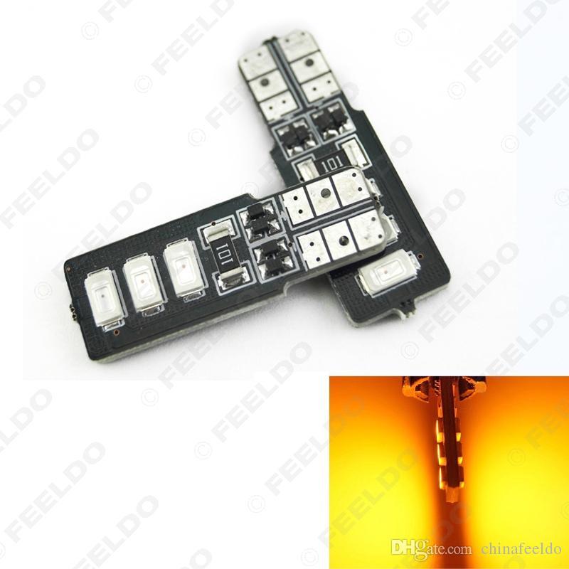 10pcs Amber T10/W5W/194/168 6SMD 5630 LED Canbus Error Free Car LED Light Bulb #4315