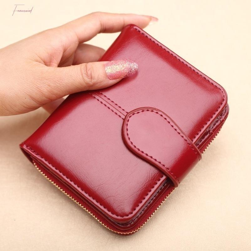 Carteira Venda Carteira Curta Moeda Vermelho Mulheres Cartera Zipper Button Bolsa Pequeno Pu Hot Pocket Bolso VVGKF