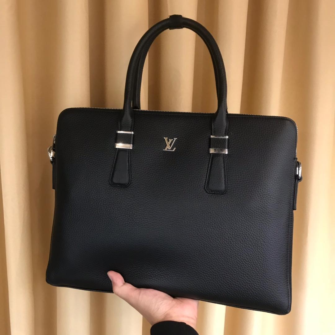 2020 Moda omuz antrenörler çantaları erkekler cüzdan çanta adam deri çanta Siyah eli Evrak çantası 122008