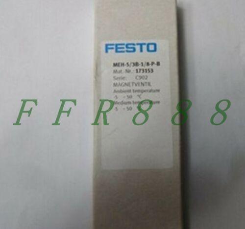 UM NOVO Festo válvulas solenóides MEH-5 / 3B-1/8-P-B