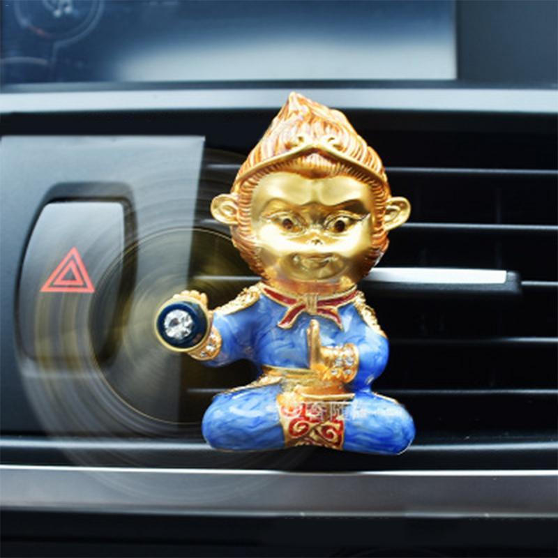 The Monkey King Style высококачественный сплав цинка Air Outlet Аромат Очиститель Парфюмерии автомобильные аксессуары Украшения автомобилей Украшения