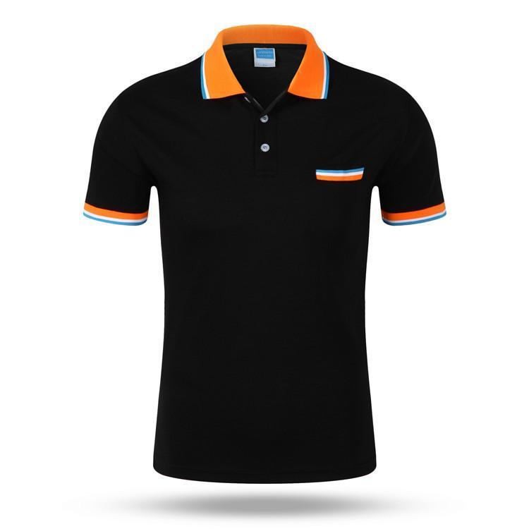 Marka Erkek 'S Polo Gömlek Yaz Stili Polos Kısa Kollu Katı Gömlek Formalar Bluz Lüks Polo Trend