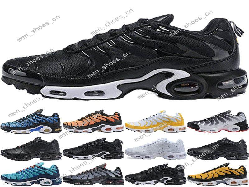 2020 TN Plus SE zapatos para correr para hombre para hombre blanco rojo azul gafas 3D Hyper negro retroceso Futuro deportes de la moda entrenador de la zapatilla de deporte # 005
