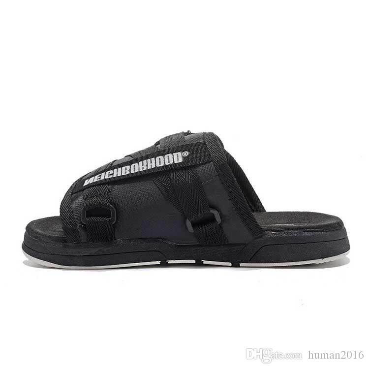 2018 ÉTÉ Marque Visvim homme intérieure Pantoufles Chaussures Plage Sandales Pantoufles Extérieur Hip-hop Rue Femmes Designer Sandales Homme Casual Chaussures