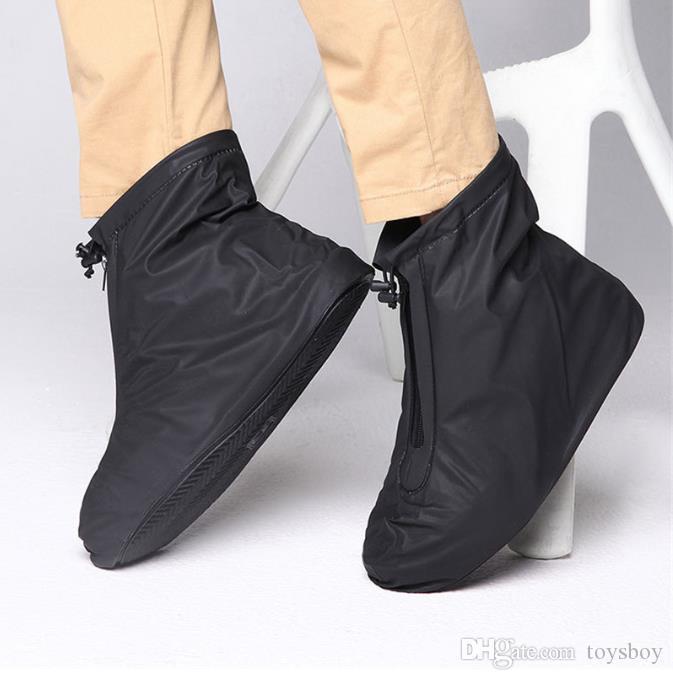 Homens Mulheres Sapatos capas para chuva Flats Botas Capa PVC reutilizável antiderrapante cobertura para Sapatos com a camada impermeável Interno