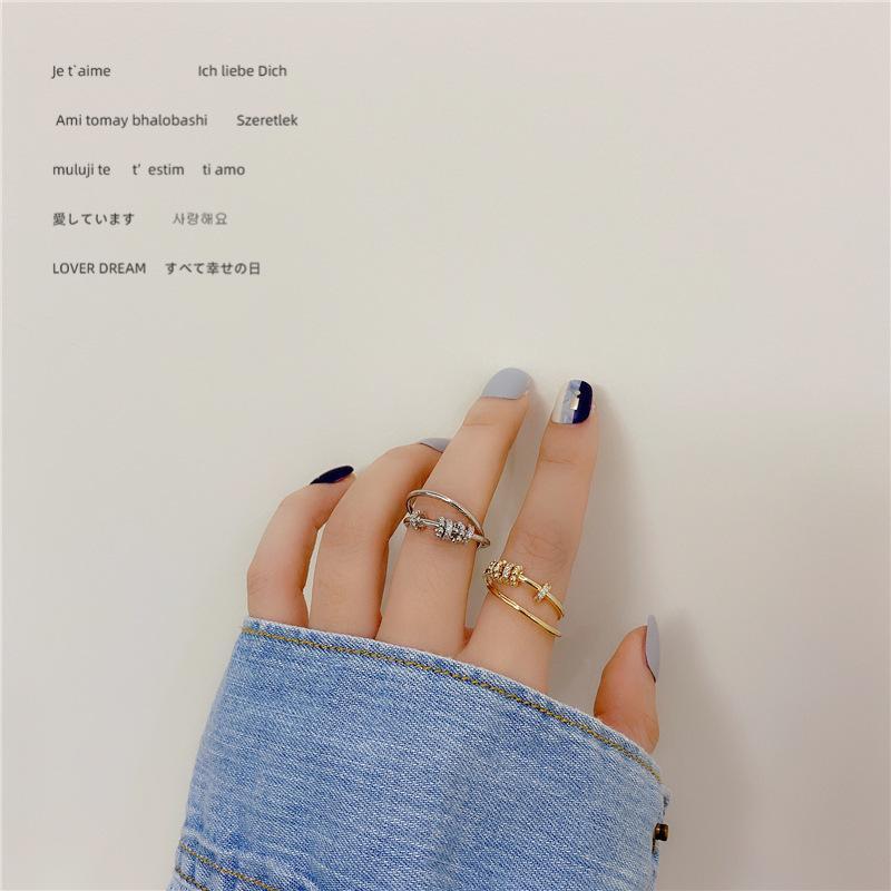 Estilo del INS anillos de las señoras de la vendimia de la personalidad Cruz banda anillo de metal para regalo simples Hip Hop mujeres del Rhinestone de los anillos