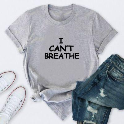 """Designer T-shirts """"Eu não posso respirar"""" Imprimir Verão Tops das mulheres cor sólida T-shirt 2020 Chegada Nova Mens Outdoorwear roupas de verão"""