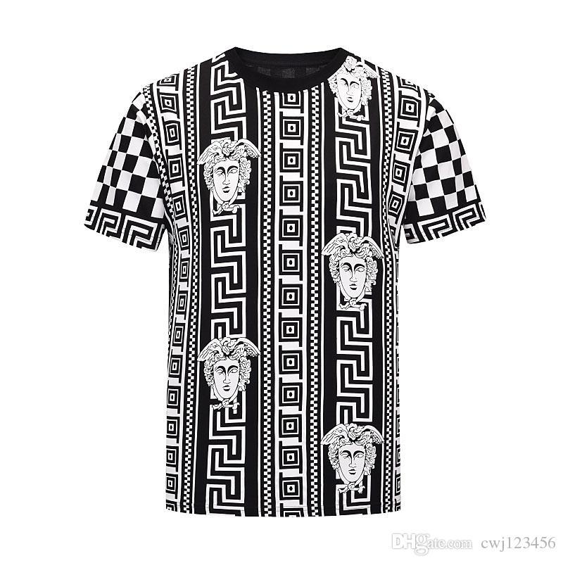 Ropa de verano de los hombres de la camiseta 88Men letra de la manera KITH camiseta de la impresión fresca de cuello manga corta cuello redondo camiseta de los hombres Hombres Mujeres Blanco Negro Top