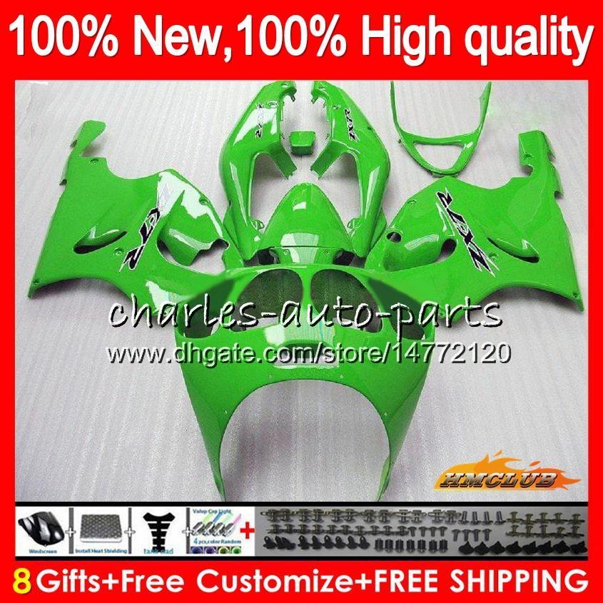 Body For KAWASAKI ZX-7R ZX750 factory green ZX 7R 1996 2000 2001 2002 2003 28HC.22 ZX-750 ZX 7 R ZX 750 ZX7R 96 97 98 99 00 01 02 03 Fairing