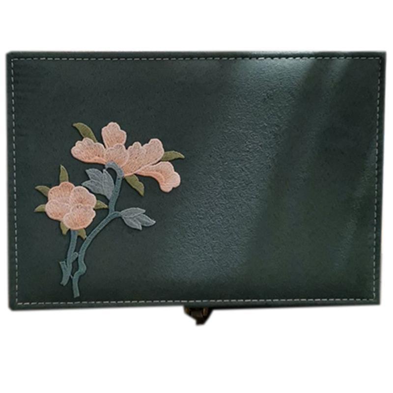 Squisiti gioielli ricamati a mano Storage Box collana Orecchini Anello bagagli ragazza regalo Box
