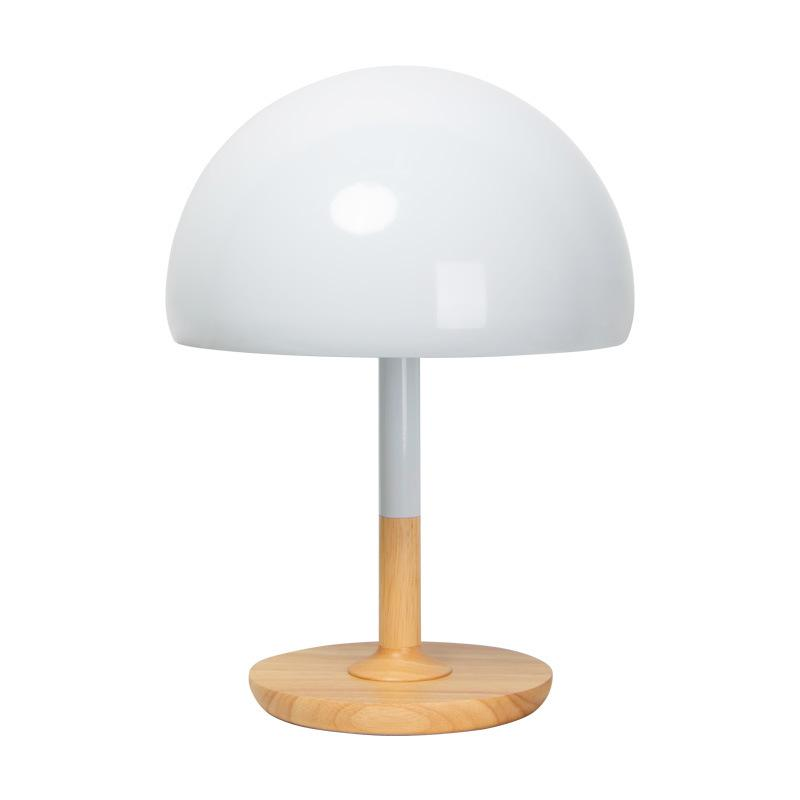 Nordic Table Lamp Scandinavian Designer Bedroom Bedside Creative Fashion Wooden Lighting Modern Simple Cute Mushroom Head Light