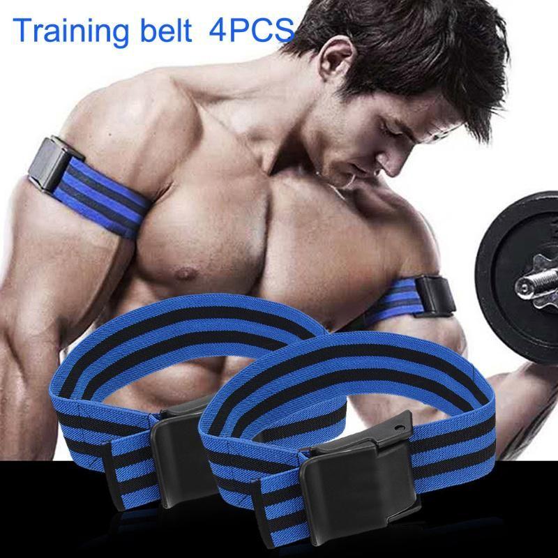Bodybuilding Arm Blaster Bein Occlusion Blood Flow Restriction Trainings-Widerstand-Bands Kaatsu Straps Gym Fitnessgeräte # D