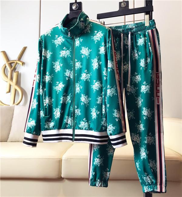 С длинными рукавами новый бренд дизайнер письмо печать работает 2019 роскошный костюм толстовки спортивной костюм мужской пиджак пиджак случайный sweatsh