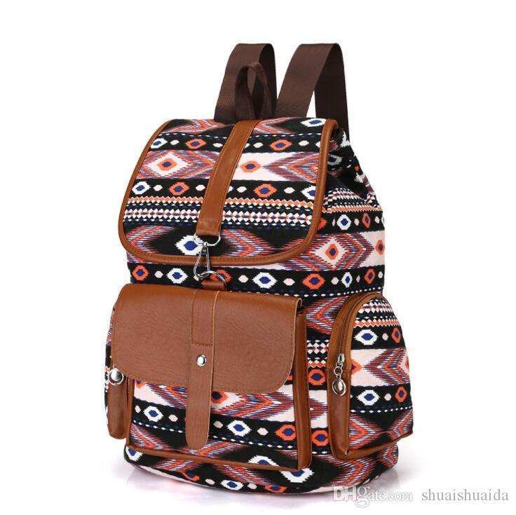 2019 Outdoors packs Backpack Fashion knapsack Computer package Big canvas Handbag Travel bag Sport&Outdoor Packs Laptop bag Schoolbag Q202
