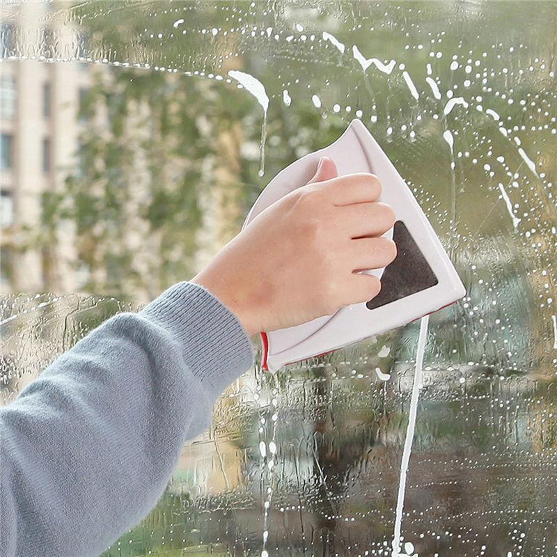 المغناطيسي زجاج نافذة تنظيف فرشاة أداة تنظيف البلاستيك ممسحة ضعف الجانب فرشاة ماسحات المحمولة النافذة المنزلية الأنظف VT0318