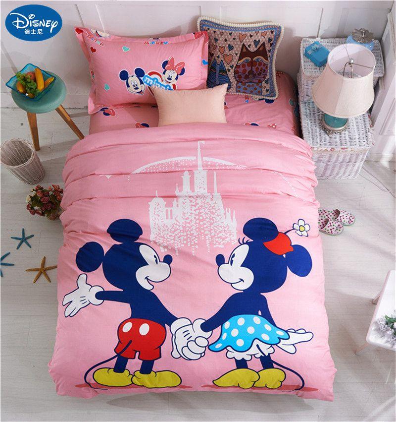 3Pcs Children Sets Home textile Soft Cartoon Quilt Cover Pillowcase Bed Sheet Bed Linen girl boy