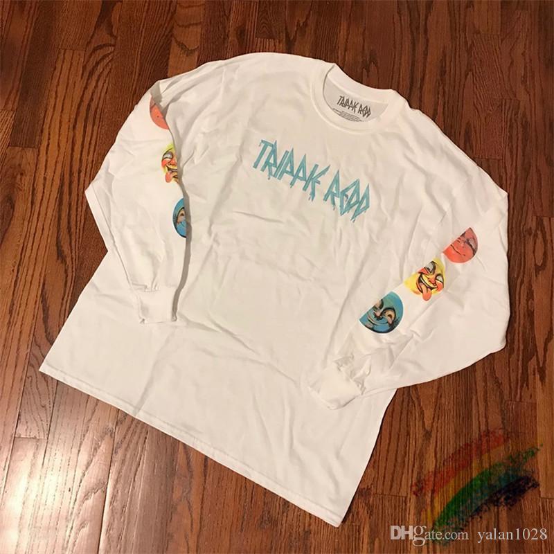 16 цветов ФУТБОЛКА с длинным рукавом рубашки Tee Мужчины Женщины Высокое качество футболки 2020ss