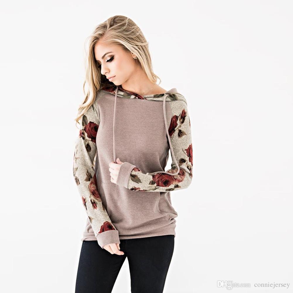 Frauen Hoodie Pullover Frühling Neue Kurze Blume T Womens Kleidung Tops Chic Pullover Top Mit Kapuze Hoodies Gmy Trainingsanzug