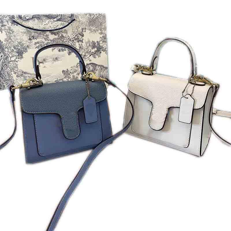 Portafoglio in pelle di alta qualità borsa Coach personalizzata di spalla di lusso del progettista delle donne del sacchetto di modo piccola fibbia Piazza Borsa, 20 cm.