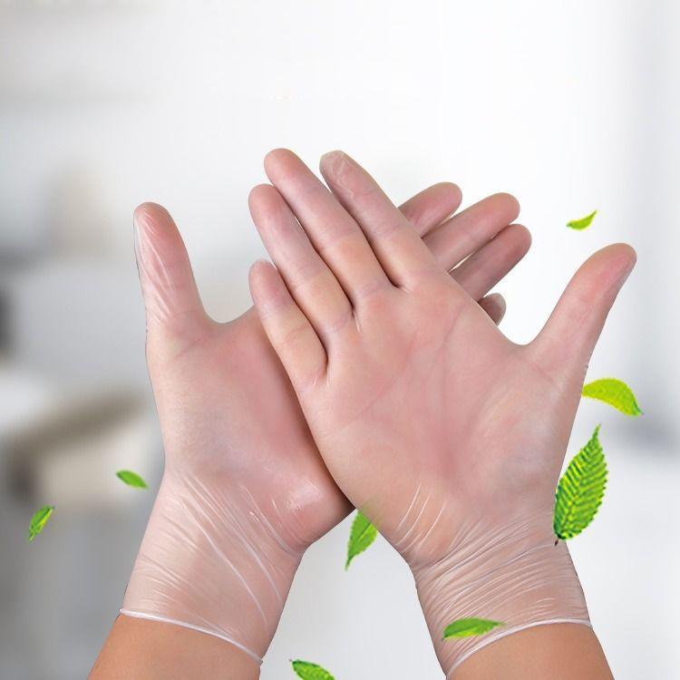 Atacado luvas brancas PVC luvas descartáveis uso diário de limpeza de vinil descartáveis Luvas Pó gratuitas Página Inicial Jardim Luva