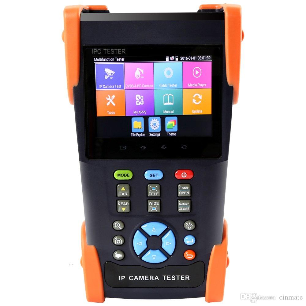 3.5 Inch IP Camera Tester Analog Camera Tester Security CCTV Tester with TDR/POE/PTZ Control/IP Discovery/Rapid ONVIF/WIFI/8G TF Card/4K