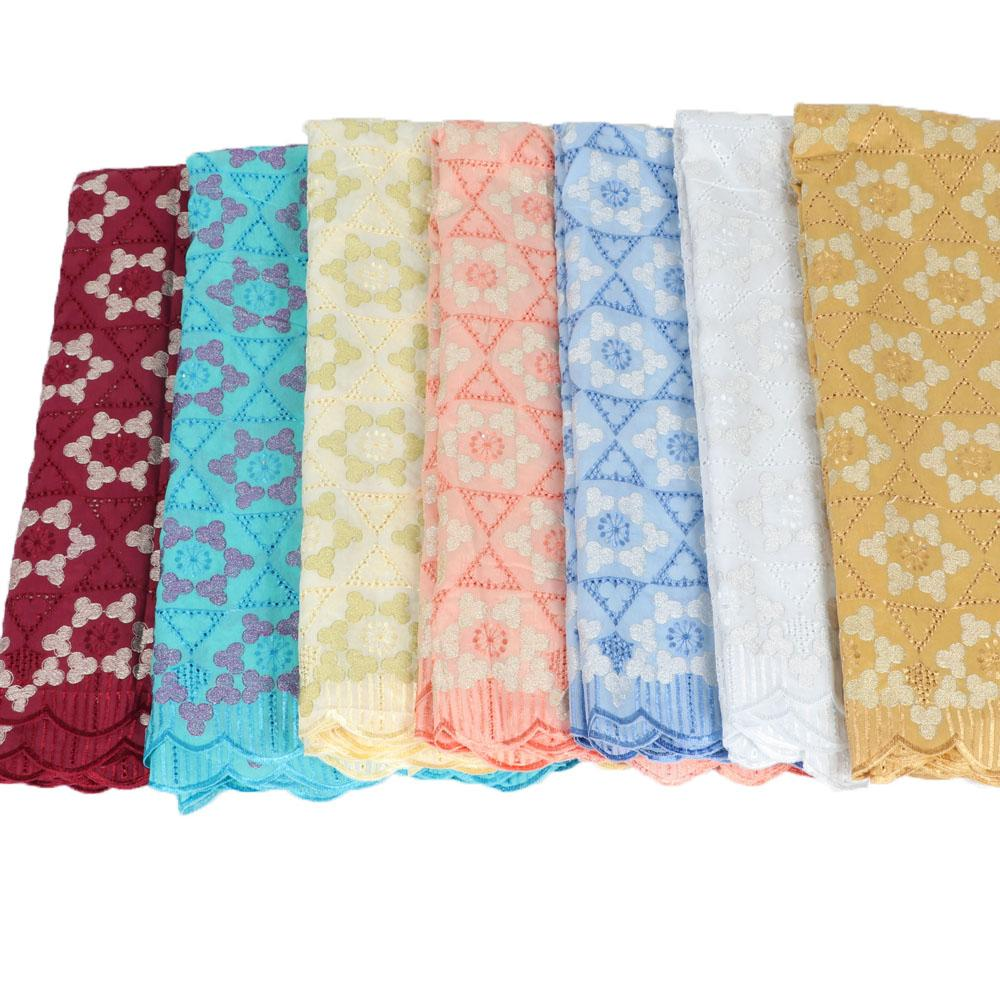 African Lace Fabrics 2018 Lowest price swiss voile lace in switzerland high quality Nigerian embroidered lace fabric HX11