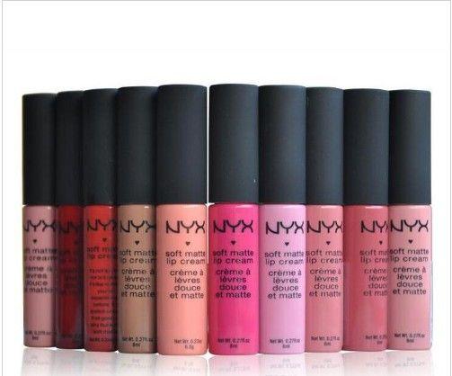 nueva NYX mate suave crema de labios lápiz labial NYX maquillaje de larga duración diaria de la fiesta de la vendimia con Encanto Marca maquillaje brillante Barras de labios brillo de labios