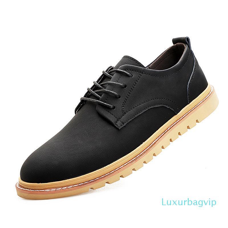 Autunno 2019 nuove scarpe di cuoio, Marea, pattini di svago, coreano Edition Moda, Pelle Brit