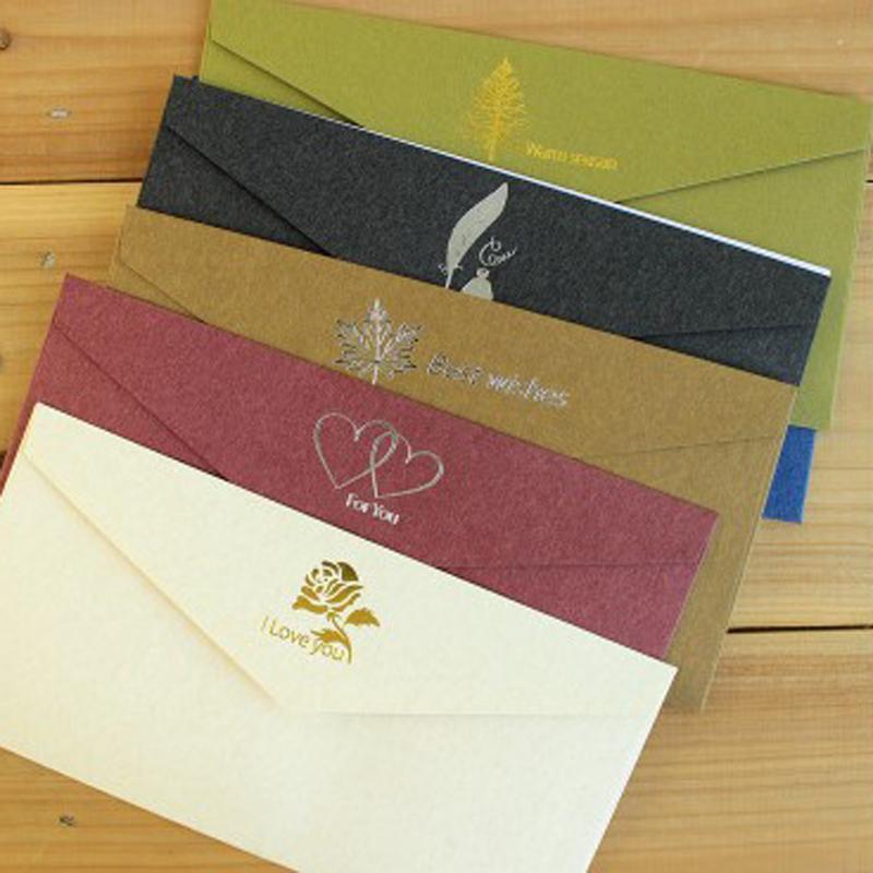Vintage Bronzing-Einladungs-Karten-Umschlag-Kraftpapier-Geschäfts-Einladung Karten-Umschläge Hochzeit lädt Anpassbare VT1439