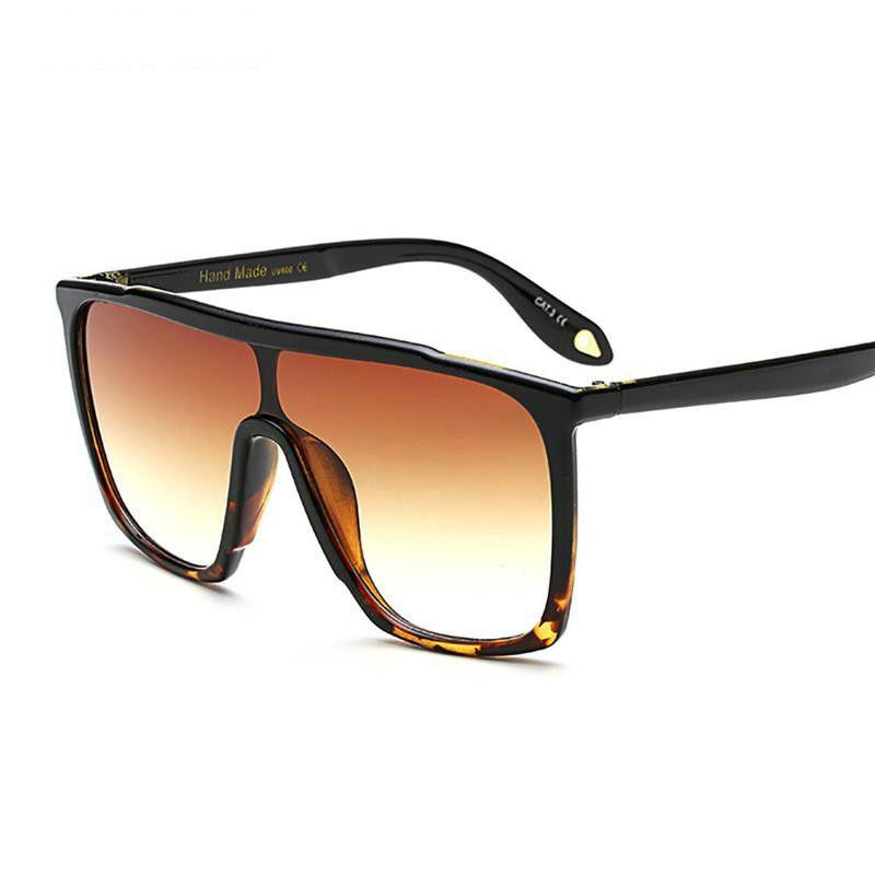 All'ingrosso-HUITUO nuovo retro di modo di marca del progettista grandi occhiali da sole UV400 gradiente Vintage Occhiali Cool man Equitazione Occhiali