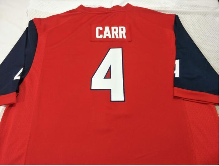 femmes hommes sur mesure jeunesse Fresno State Bulldogs # 4 Derek Carr Football Jersey taille s-4XL ou sur mesure tout nom ou le numéro jersey