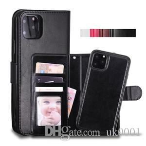 Phone Case Leather Wallet Case Magnetic 2in1 Detachable Cover Cases For iPhone 11 Pro max xs Max 7 Samsung Note10 cover