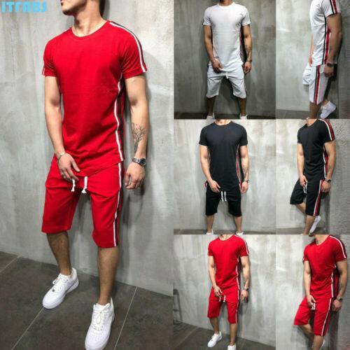 Wholesale-Men's sportswear jogging shorts T-shirt jacket jacket + pants sports sweat suit