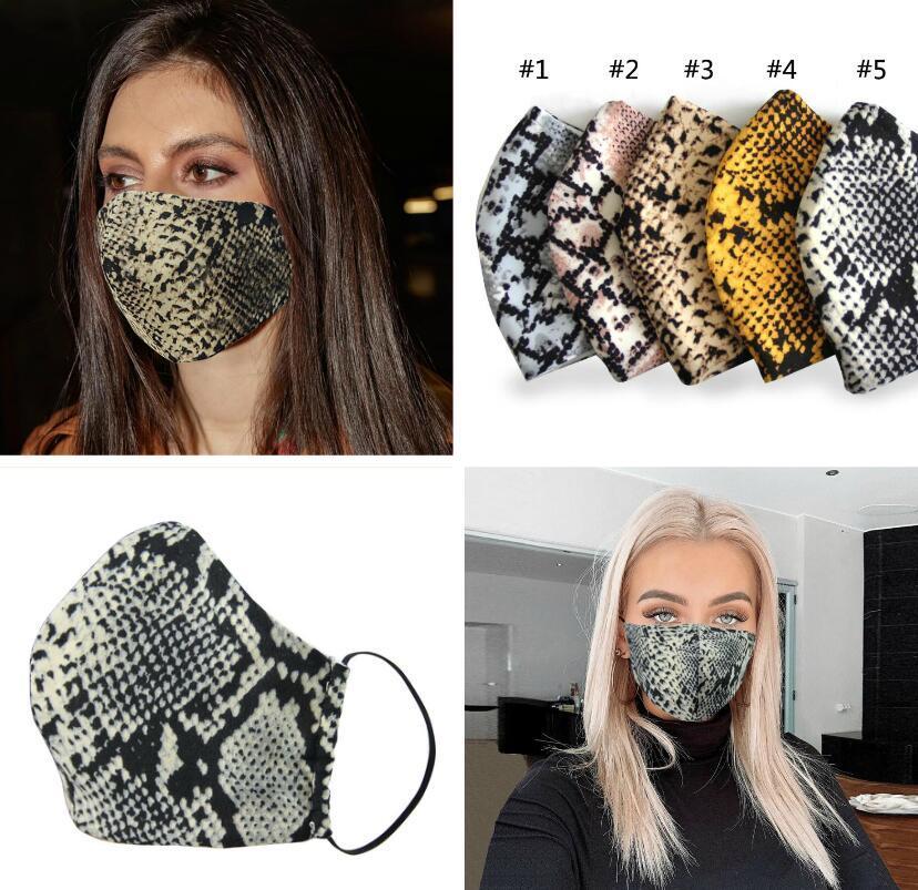 PM2.5 Parti Leopar baskı Yüz Maskesi pamuk Hava Temizleme Anti Toz Kirliliği Maske Yetişkin Ayarlanabilir Tekrar Kullanılabilir Nefes Maskeler Maske
