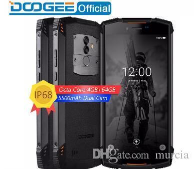 Real IP68 DOOGEE S55 waterproof Smartphone 4GB RAM 64GB ROM 5500mAh MTK6750T Octa Core 5.5inch Android 8.0 Dual SIM 13.0MP 4GLTE Mobile Phon