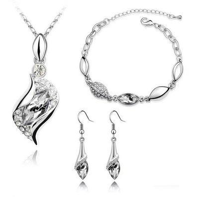 11colors Austria collar de cristal pendientes de la pulsera Establece sistemas de la joyería de diamantes de circón para las mujeres Señora de Navidad San Valentín regalo del día de boda