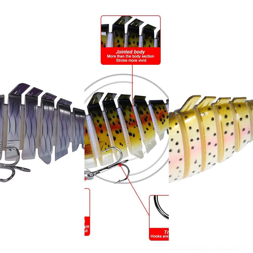 9GMdv Outdoordouble-tailed Fischen 10cm * 15,5 g lange künstliche gefälschte Köder luya Köderfischen SoftWORM