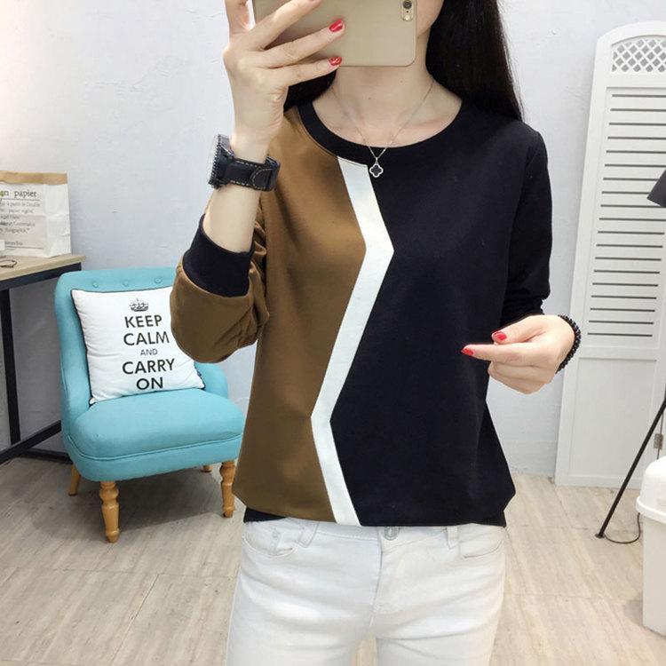 Plus Size Tshirt Women Fashion Long Sleeve T-shirt Women Tops Casual Camiseta femme Patchwork Tshirts Women Poleras Mujer 2019 (9)