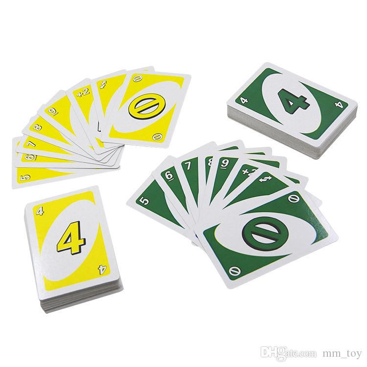 UNO Card Top sale Puzzle Party Games Card 172.8g 108 Cards Family Funny Entertainment Board Game Fun Poker Playing Cards Entertainment