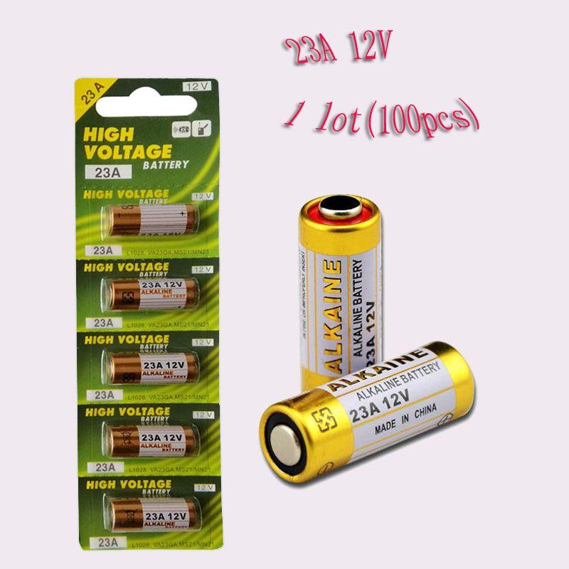 100PCS الكثير 1 23A 12V المحايدة حماية البيئة البطارية E23A MN21 MS21 V23GA L1028 القلوية Trocken بطارية 12V 23A