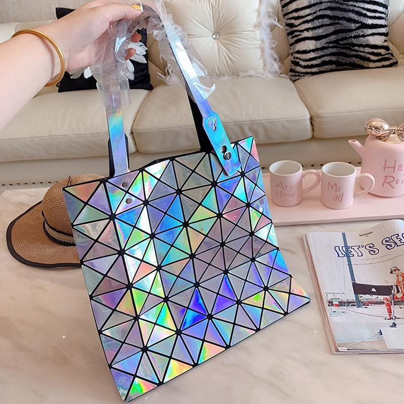 Лазерной Shimmer женщина качества сумки сумка моды кожа топ бренды сумочек женщины в офисе топа-ручка сумки дизайнерской сумки 2019
