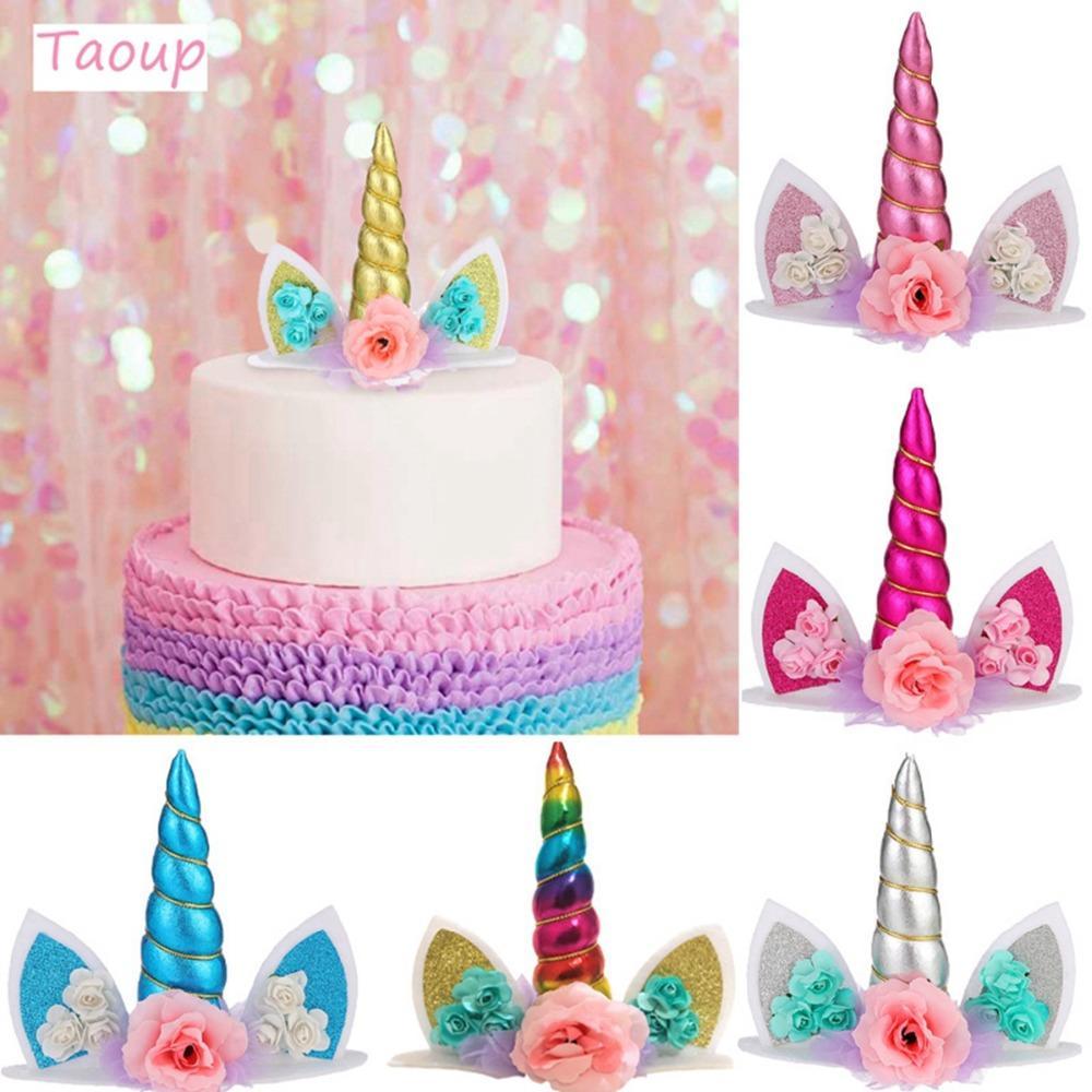 Outstanding Taoup Wedding Babyshower Unicorn Cake Topper Wedding Decor For Funny Birthday Cards Online Unhofree Goldxyz